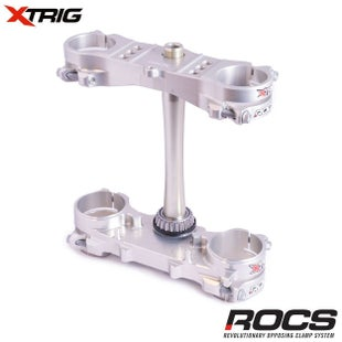 XTrig ROCS Tech Triple Clamp Set Honda CRF450 1316 OS 20mm M12 Triple Clamp - Silver