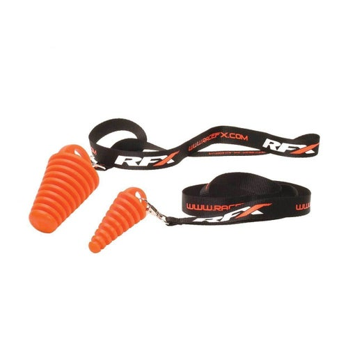 RFX Race Exhaust Bung 4 Stroke Includes Lanyard Exhaust Spare - Orange