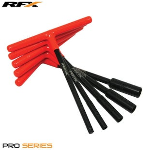 RFX Pro TBar Set Standard Reach with Rubber Handle 8mm 10mm 12mm Hand Tool - Black Orange