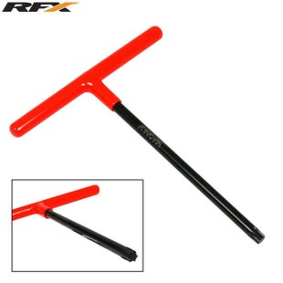 RFX Pro TBar Standard Reach with Rubber Handle KTM T45 Torx Head , Hand Tool - Black Orange