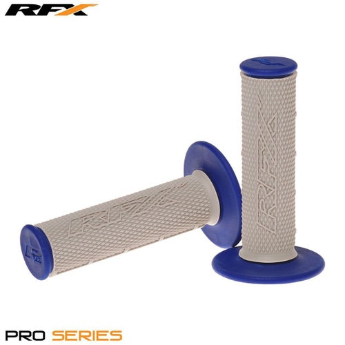 RFX Pro Series 20500 Dual Compound Grips Grey Centre Pair MX Handlebar Grip - Grey Blue
