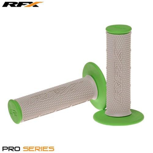 RFX Pro Series 20500 Dual Compound Grips Grey Centre Pair MX Handlebar Grip - Grey Green