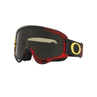 Oakley O Frame MX Motocross Distress Tagline Red Ylw Motocross Goggles - Dark Grey