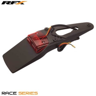 RFX Race Rear LED Tail Light Black Universal 3 way Stop and Tail Rear Light - Black