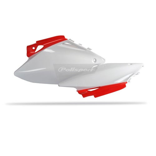 Polisport Plastics Side Panel Honda CRF450 07 Side Panel Plastic - 08 White Red