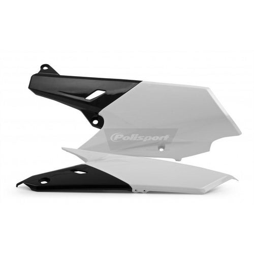 Polisport Plastics Side Panel Yamaha WRF250 15 White Black OEM14 Side Panel Plastic - 15)