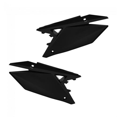 Polisport Plastics Side Panel Suzuki RMZ450Black Side Panel Plastic - ide Panel Suzuki RMZ450Black