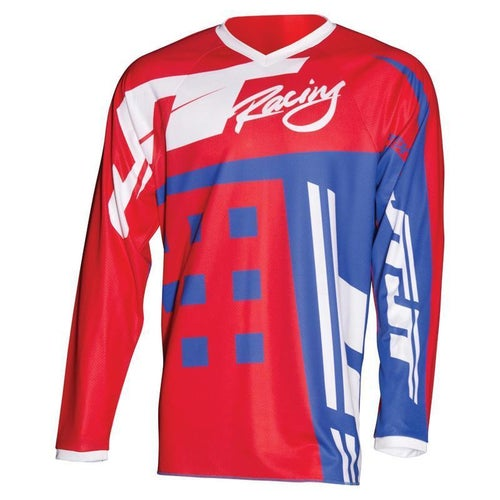 Maglia MX JT Racing Flex Exbox - Red Blue White