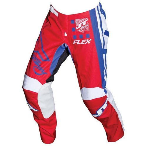 Pantaloni MX JT Racing Flex Exbox MX - Red Blue White
