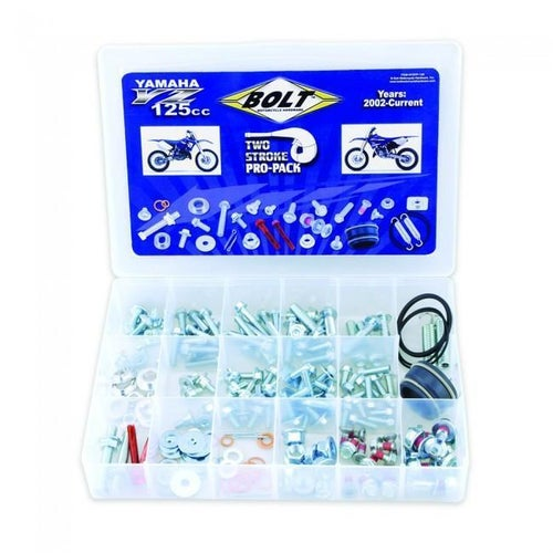 Bolt Hardware Yamaha YZ Style Pro Pack Fastener Kit YZ125 02 Bike Specific Bolt Pack - Black