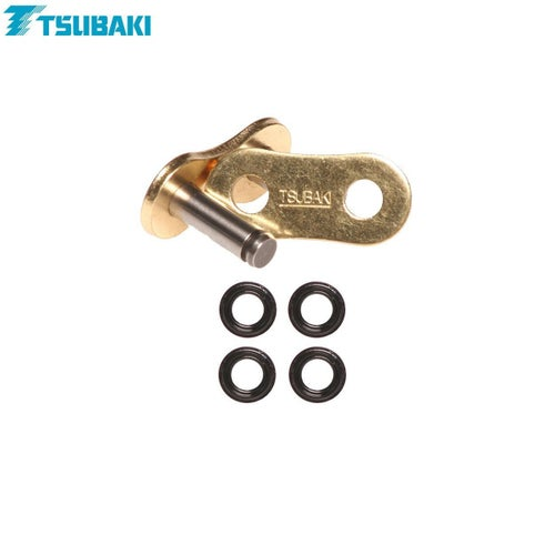 Tsubaki Replacement MX Alpha XRG 520 Rivet link Chain Split Link - Gold Black