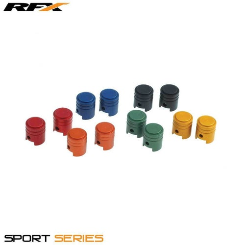 RFX Sport Valve Caps Piston 2pcs , Wheel Accessories - Blue