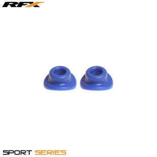 RFX Sport Valve Rubber Seals 2pcs Wheel Accessories - Blue