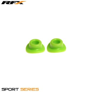 RFX Sport Valve Rubber Seals 2pcs Wheel Accessories - Green