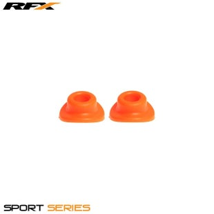 RFX Sport Valve Rubber Seals 2pcs Wheel Accessories - Orange