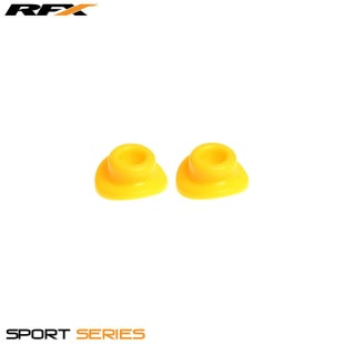 RFX Sport Valve Rubber Seals 2pcs Wheel Accessories - Yellow