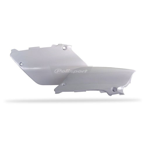 Polisport Plastics Side Panel Yamaha YZ125 250 0214 White OEM 02 Side Panel Plastic - 14)