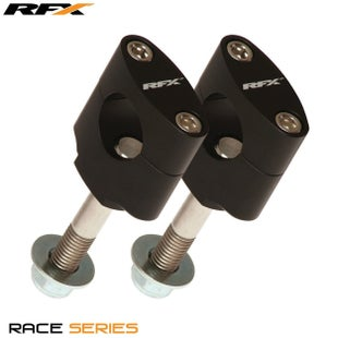 RFX Race Handlebar Mount Kit 222mm Kawasaki Pre 08 Bar Mount Kit - Black