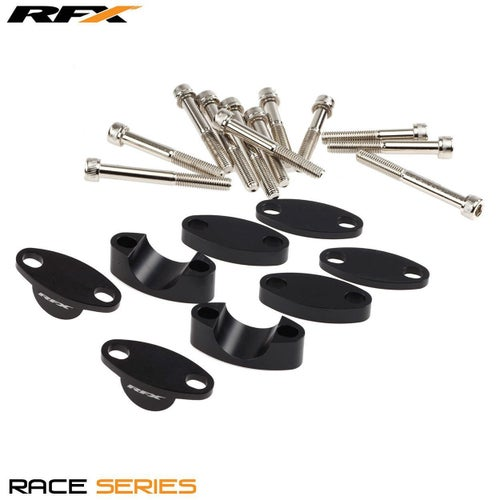 RFX Race Handlebar Riser Kit 222mm Universal Raises 40mm Handlebar Riser Kit - Black