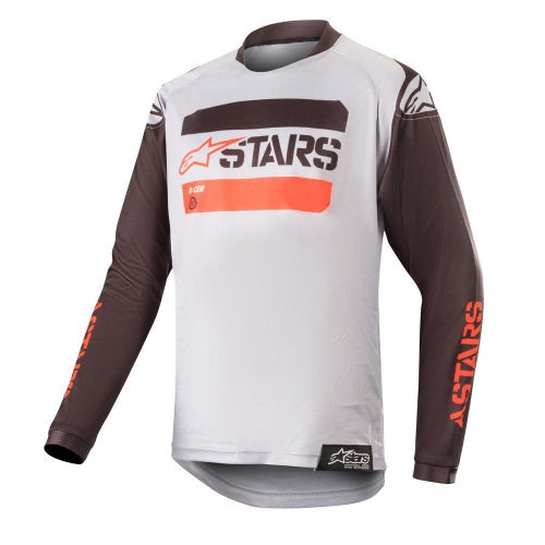 Alpinestars Youth Racer Tactical Motocross Jerseys - Black Gray Red Fluo