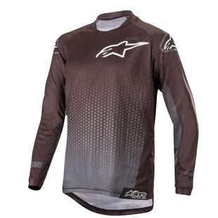 Alpinestars Youth Racer Graphite Motocross Jerseys - Black Anthracite
