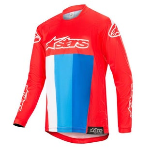 Alpinestars Youth Racer Venom Motocross Jerseys - Red White Blue