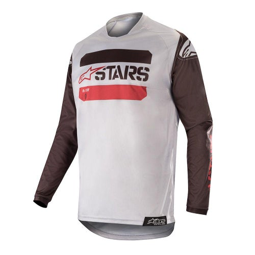 Alpinestars Racer Tactical Motocross Jerseys - Black Gray Burgundy