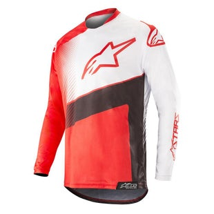 Alpinestars Racer Supermatic Motocross Jerseys - Red Black White