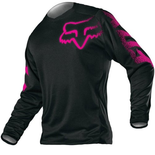 Fox Racing Wmn Blackout Womens Motocross Jerseys - Blk/pnk
