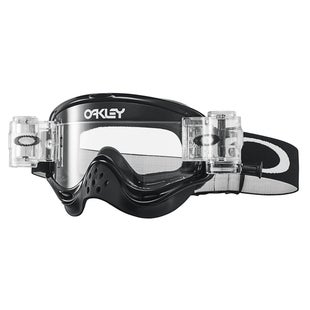 Oakley O Frame Roll Off MX Motocross Jet Black Motocross Goggles - Clear