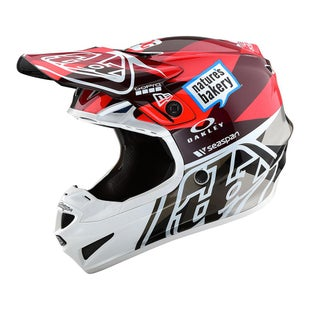 Troy Lee YOUTH SE4 19 MX Motocross and Enduro Helmet Boys Motocross Helmet - Orange/Grey