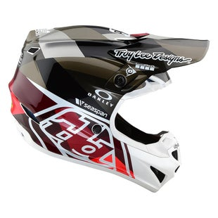Troy Lee SE4 19 Polyacrylite MX MX-Helm - Jet Orange/Grey