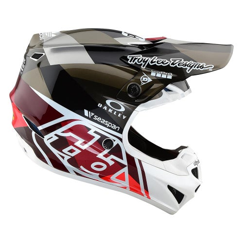 Troy Lee SE4 19 Polyacrylite Motocross Helmet - Jet Orange/Grey