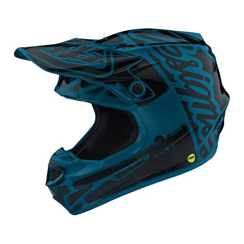 Troy Lee SE4 19 Polyacrylite Motocross Helmet - Factory Ocean