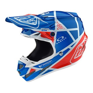 Troy Lee SE4 19 Composite MX Motocross and Enduro Helmet Motocross Helmet - Metric Ocean