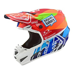Troy Lee SE4 19 Composite MX Motocross and Enduro Helmet Motocross Helmet - Jet Navy/Orange