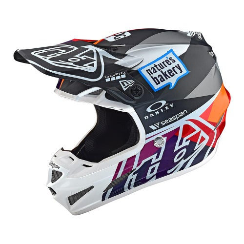 Troy Lee SE4 19 Composite MX Motocross and Enduro Helmet Motocross Helmet - Jet Red/Yellow