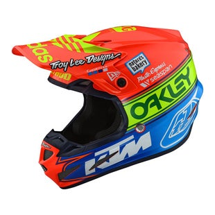 Troy Lee SE4 19 Composite Team 2 MX Motocross and Enduro Helmet Motocross Helmet - Orange/Blue