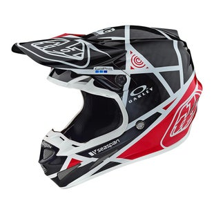 Troy Lee SE4 19 Carbon MX Motocross and Enduro Helmet Motocross Helmet - Metric Black/Red