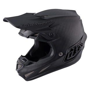 Troy Lee SE4 17 Carbon MX Motocross and Enduro Helmet Motocross Helmet - Midnight Black