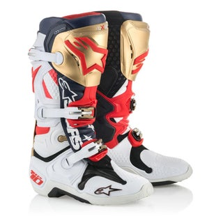Alpinestars Tech 10 Boots LE Liberty Motocross Boots - Red/White/Blue