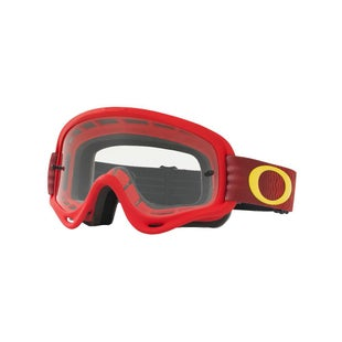 Oakley XS O Frame MX Motocross Shockwave Red Yellow Motocross Goggles - Shockwave Red Yellow ~ Clear Lens