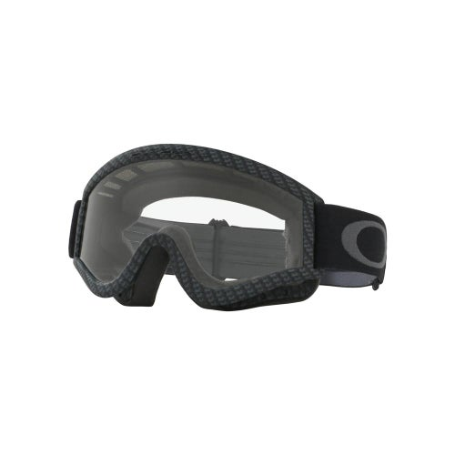 Oakley L Frame True Carbon Motocross Goggles - Carbon ~ Clear Lens