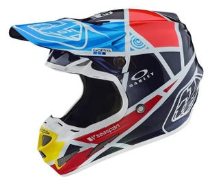 Troy Lee SE4 181 Carbon MX Motocross and Enduro Helmet Motocross Helmet - Metric Navy
