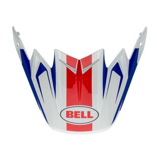 Bell Replacement Moto 9 Flex Peak Vice Blue Red Helmvizier - eplacement Moto 9 Flex Peak (Vice Blue/Red)