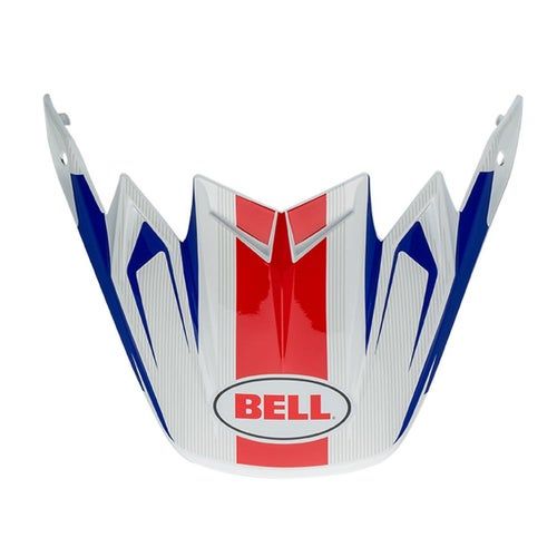 Bell Replacement Moto 9 Flex Peak Vice Blue Red Helmet Peak - eplacement Moto 9 Flex Peak (Vice Blue/Red)