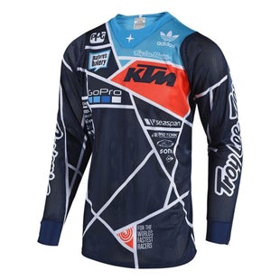 Troy Lee SE AIR 181 Metric MX Motocross Jersey Motocross Jerseys - Navy / Orange