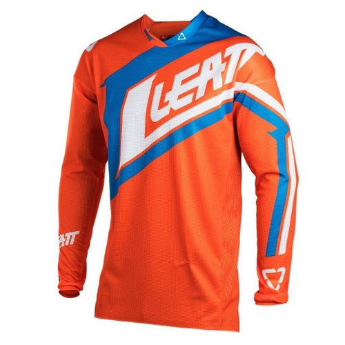 Leatt GPX 4.5 Lite Motocross Jerseys - Orange / Denim