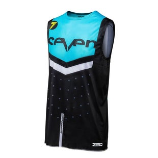 Seven 181 Zero Flite Motocross Over Vest Motocross Jerseys - Black/Blue