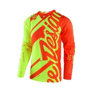 Troy Lee GP Shadow YOUTH Motocross Jersey Boys Motocross Jerseys - Yellow / Orange
